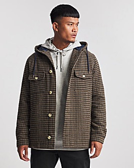 Hooded Check Jacket