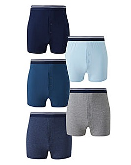 Pack of 5 Loose Fit Boxers
