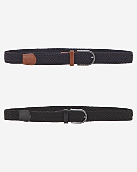 Pack of 2 Canvas Belts