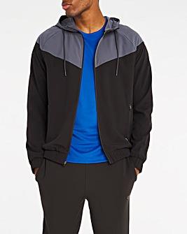 Jacamo Active Grey/Black Windbreaker Jacket