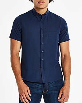 Navy Short Sleeve Oxford Shirt Regular