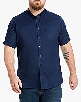 Navy Short Sleeve Oxford Shirt Long
