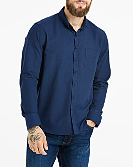 Navy Long Sleeve Oxford Shirt Regular