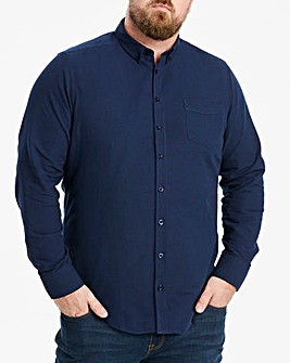 Navy Long Sleeve Oxford Shirt Long