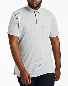 Grey Stretch Jersey Polo