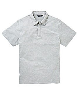 Grey Stretch Jersey Polo Long