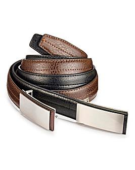 Capsule Pack of 2 Flat Buckle Belt