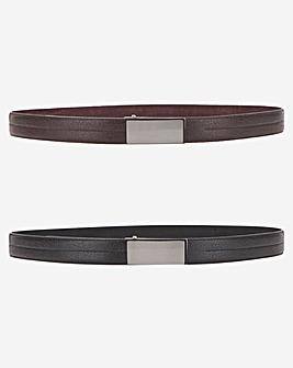 Pack of 2 Flat Buckle Belt