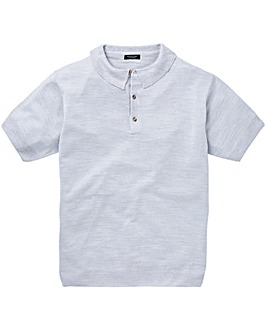 Light Grey Short Sleeve Knitted Polo