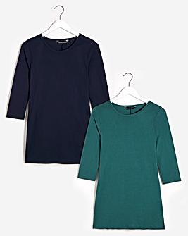 2 Pack 3/4 Sleeve Tunics