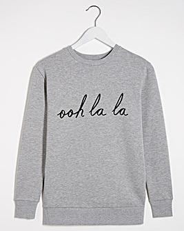 oo la la Slogan sweatshirt
