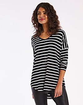 V Neck Stripe Tunic
