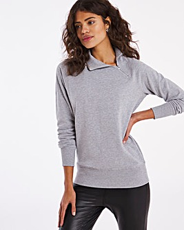Side Neck Zip Sweatshirt
