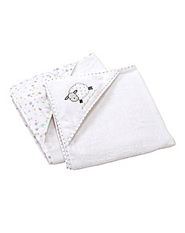 Silvercloud Counting Sheep Hooded Towel Twinpack
