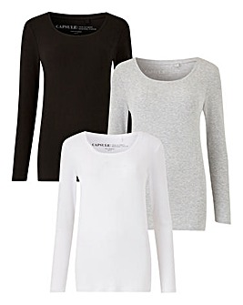 3 Pack Long Sleeve Tops