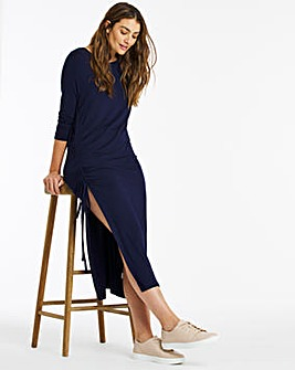 side ruched split tunic
