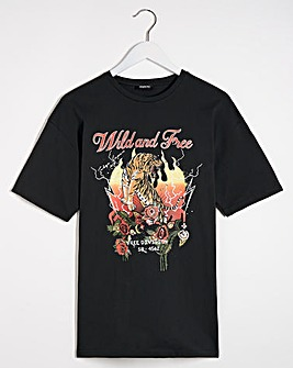 Wild and Free Slogan T-Shirt