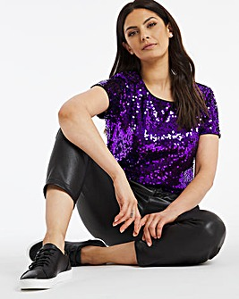 Violet Sequin T-Shirt