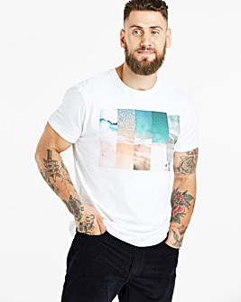 Jacamo White Beach T-Shirt Long