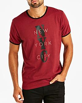 Jacamo Burgundy NYC T-Shirt Long