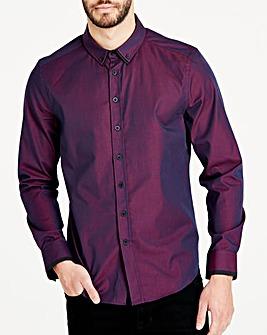 Burgundy Label Red Cross Dye L/S Shirt Long