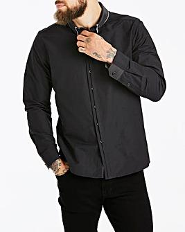 Black Fancy Collar Shirt Long