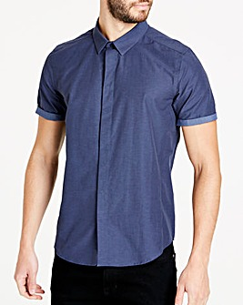 Navy Muscle Fit Shirt