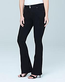 Shape & Sculpt Black High Waist Bootcut Jeans Regular Length