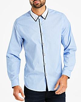 Blue Marl Double Collar Shirt L