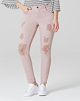 Chloe Distressed Skinny Jeans Short Length