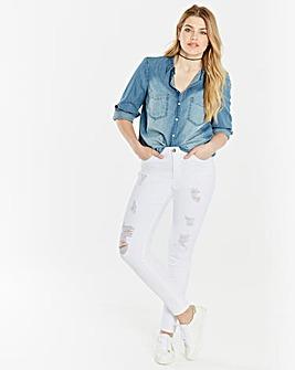 Chloe Distressed Skinny Jeans Regular Length