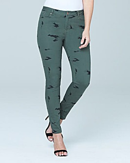 Chloe Skinny Print Jeans Reg