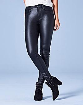 Chloe Super Stretch Coated Skinny Jeans Regular Length