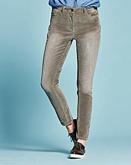 Cord Slim Leg Jeans Short