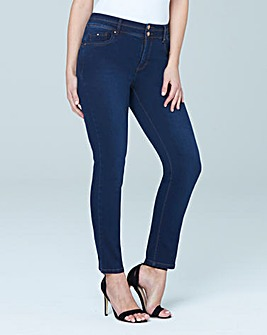 Premium Shape & Sculpt Black High Waisted Straight Leg Jeans Regular Length