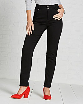 Petite Black Shape & Sculpt High Waist Straight Leg Jeans