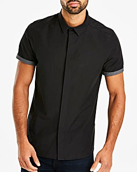 Black Muscle Fit Shirt Long