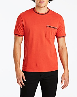 Jacamo Knitted Collar T-Shirt Reg