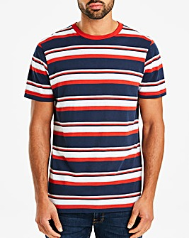 Jacamo Stripe T-Shirt Long