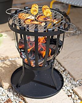 La Hacienda Curitiba Fire Basket with Cooking Grill