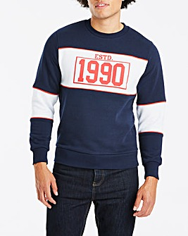 Jacamo 1990 Crew Neck Sweat Long