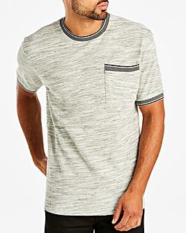 Jacamo Knitted Collar T-Shirt Reg