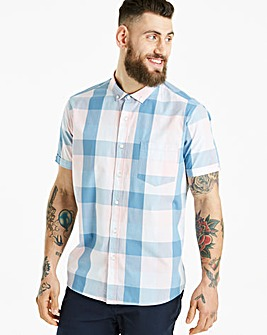 Jacamo Jericho Check S/S Shirt Long