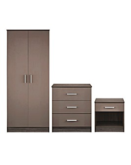 Miami Gloss 3 Piece Bedroom Package