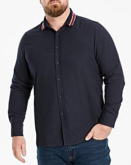 Jacamo Knitted Collar Shirt Regular