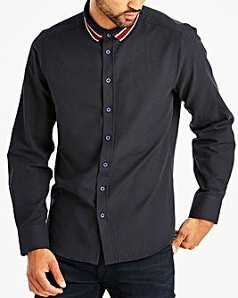Jacamo Knitted Collar Shirt Long