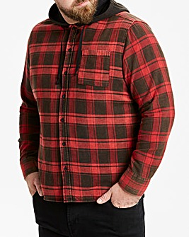 Buffalo Check Hooded Shirt