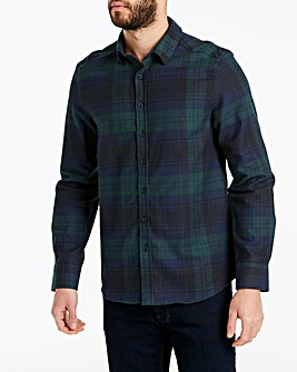Jacamo Flannel Check L/S Shirt Long
