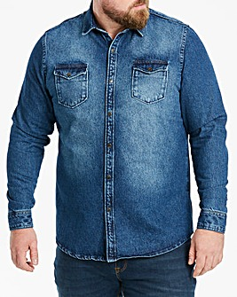 Jacamo Heavyweight Denim Shirt Long