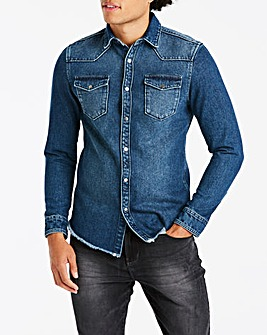 Jacamo Heavyweight Denim Shirt Reg